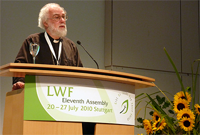 Archbishop at the Lutheran World Federation Assembly, 2010