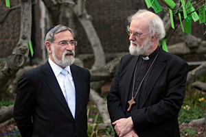 Chief Rabbi Sir Jonathan Sacks and Archbishop of Canterbury