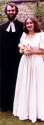 Rowan Williams and Jane Paul on their Wedding Day, 1981