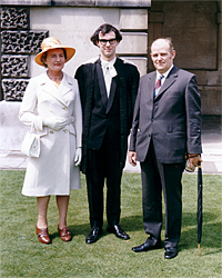 Rowan Williams on his Graduation, Christ's College Cambridge, with Parents Aneurin and Delphine Williams, 1971