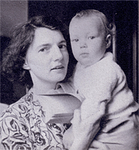 The Infant Rowan Williams with his Mother, Delphine Williams, 1950