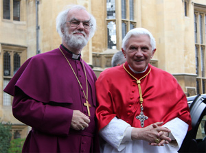 His Holiness Pope Benedict XVI and His Grace Archbishop Rowan Williams