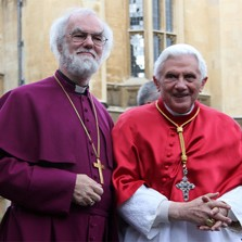 Archbishop Rowan Williams and Pope Benedict XVI