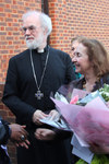 The Archbishop and Jane Williams arrive at St George Camberwell
