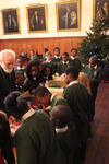 Pupils from St Jude's decorate the Lambeth Palace Christmas trees