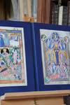 The Archbishop's gift to Pope Benedict - a diptych of illustrations from the medieval Lambeth Bible