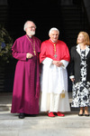 Pope Benedict XVI with Archbishop Rowan Williams and Jane Williams