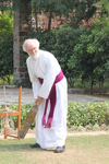 The Archbishop playing Cricket in India October 2010