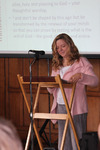 Dr Paula Gooder leading the Bible study at the 'Transformations' conference