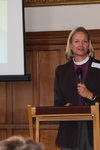 The Rt Revd Mary Gray-Reeves speaks at the 'Transformations' conference at Lambeth Palace